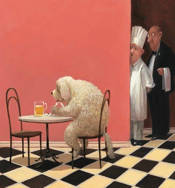 Добрые карикатуры знаменитого культового художника Герхарда Глюка (часть 2)