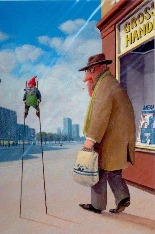 21 добрая карикатура знаменитого культового художника Герхарда Глюка (часть 1)