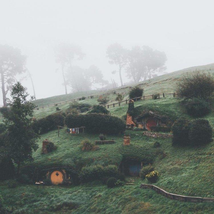 Сказочный Хоббитон, где снимался фильм «Властелин колец» (Новая Зеландия, Матамата)