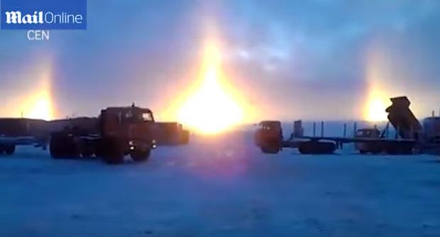 3 солнца в небе над Санкт-Петербургом: феномен гало