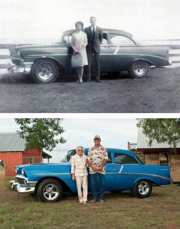 Вечная любовь существует: семейные пары переснимают свои прошлые фото спустя многие годы