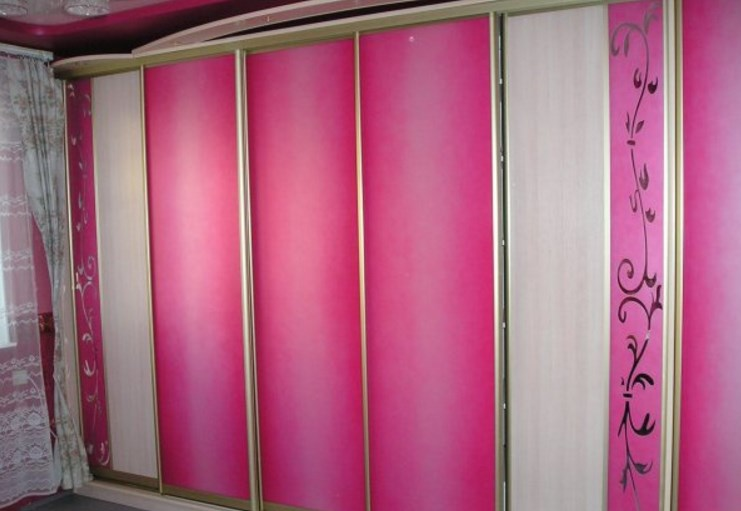 """Встроенный шкаф-купе """"розовый фламинго"""" - мебель на заказ от."""