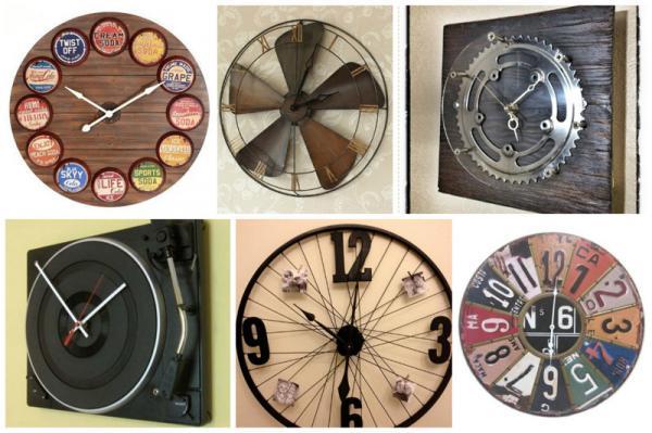 Креативные настенные часы своими руками 79