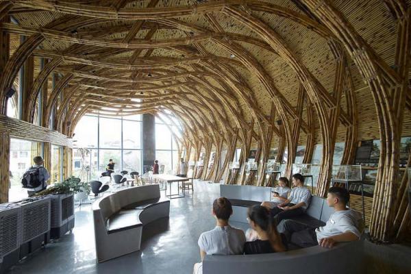 В Китае состоялась выставка бамбуковой архитектуры