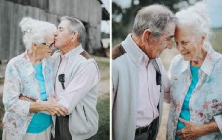 Вечная любовь существует: трогательная фотосессия пары, прожившей вместе 68 лет