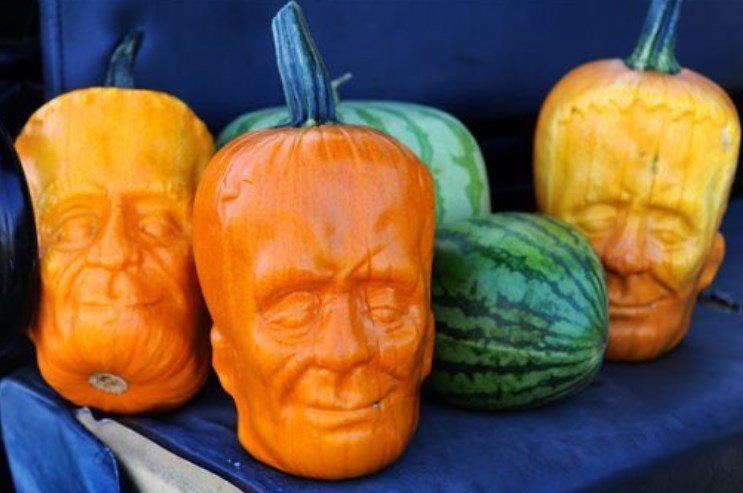 Уникальные тыквы для Хэллоуина