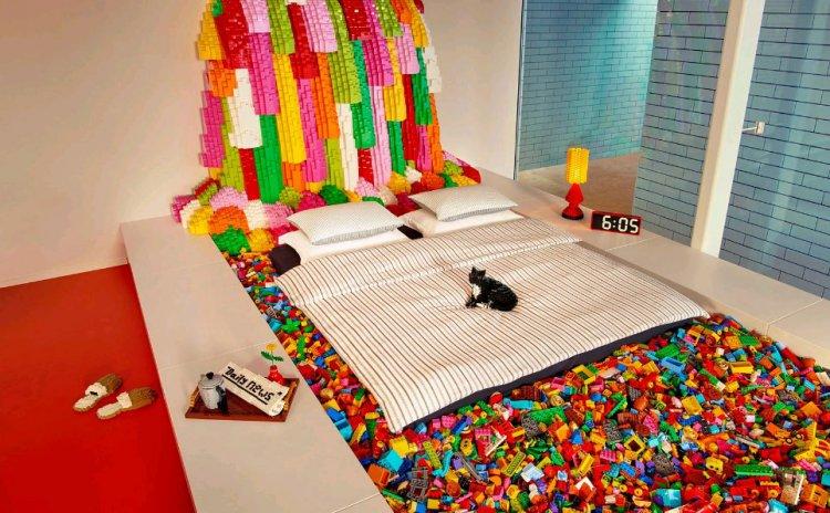 Дом, построенный из блоков Lego в Дании