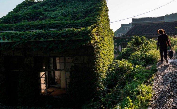 Природа вернула власть над бывшим поселением в Китае 5